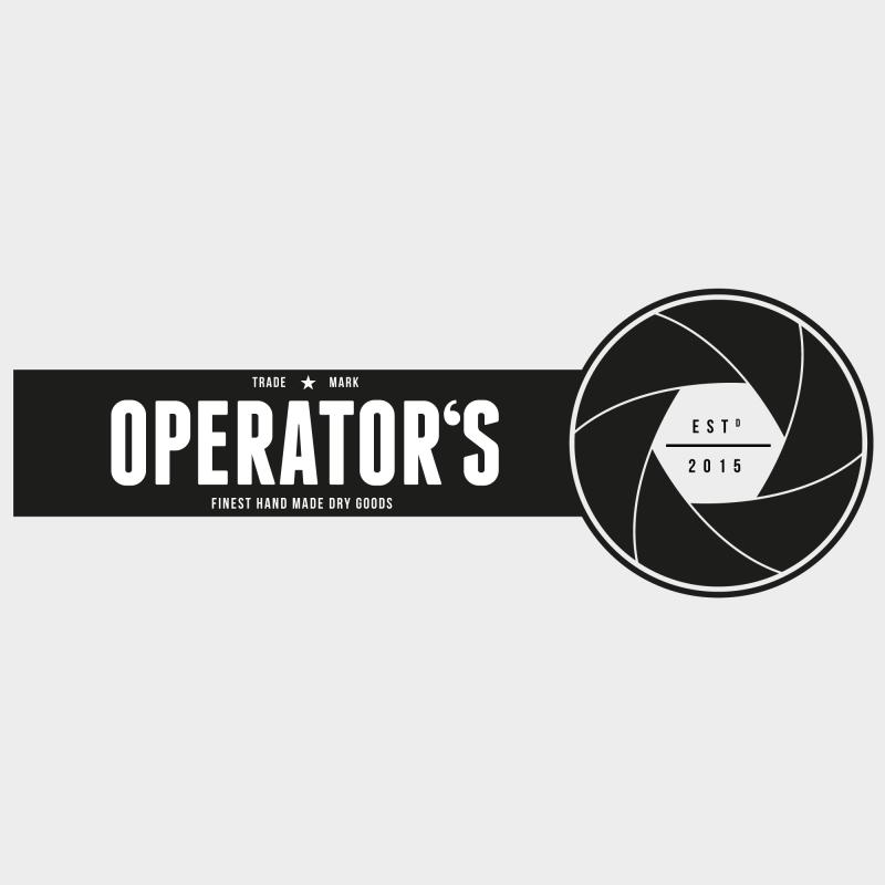 Operator's Etikettendesign und Backmischung