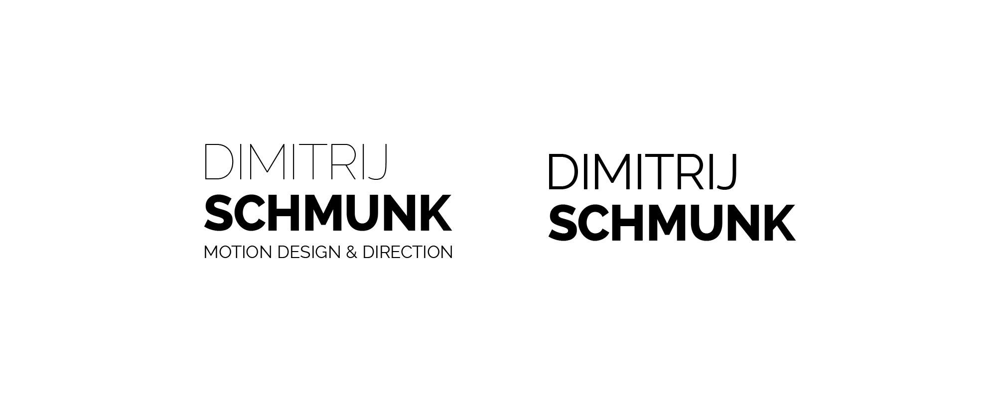 Logo Dimitrij Schmunk - Motion Design & Direction - Wortmarke I