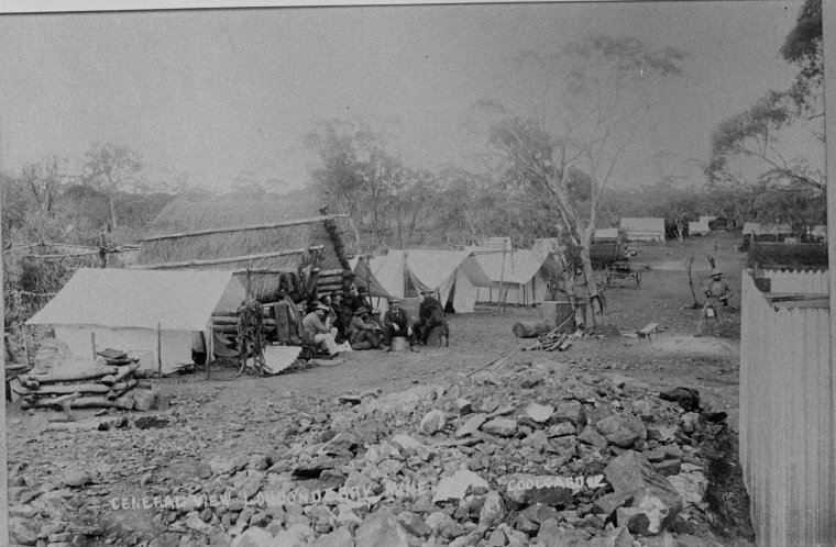 General view Londonderry Mine, Coolgardie, 1895?