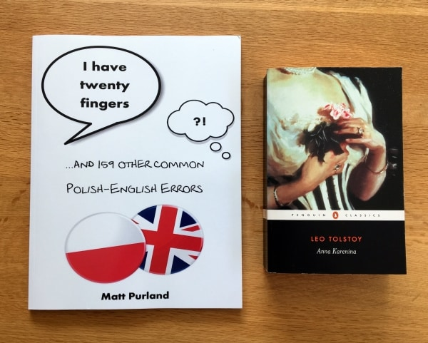 I Have Twenty Fingers: ...and 159 other common Polish-English Errors, by Matt Purland - size comparison
