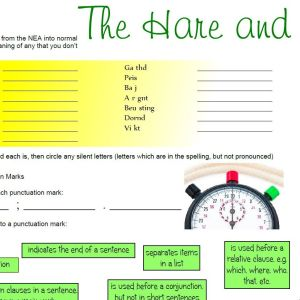 The Hare and the Tortoise – FREE Worksheet Pack
