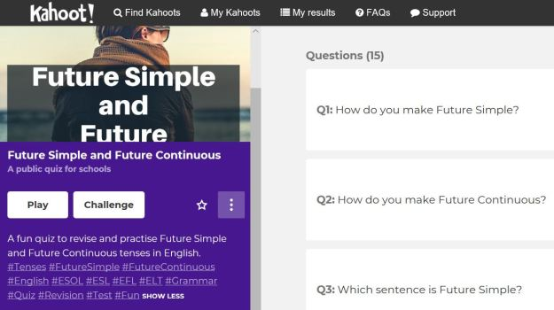 NEW! Fun Kahoot! Quiz - Future Tenses