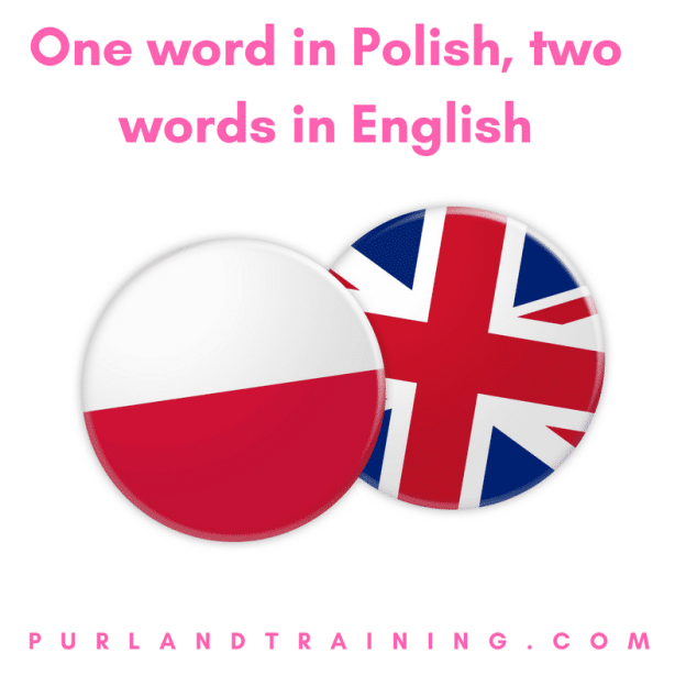 One word in Polish, two words in English