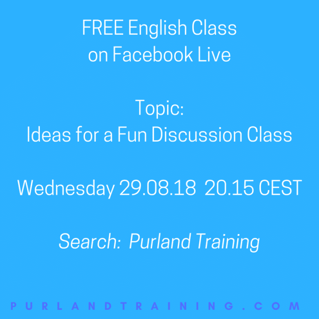FREE English Class Live on Facebook - Tonight!