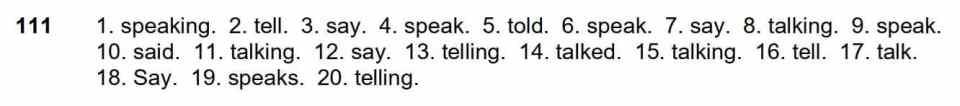 Say, Tell, Talk, or Speak? 1