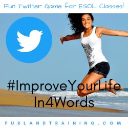 Hashtag Improve Your Life in Four Words - ESOL Game