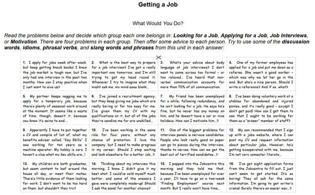 What Would You Do? - Getting a Job