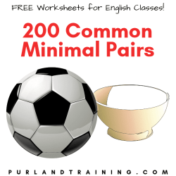 200 Common Minimal Pairs in English - Reference + Gap-Fill Activity