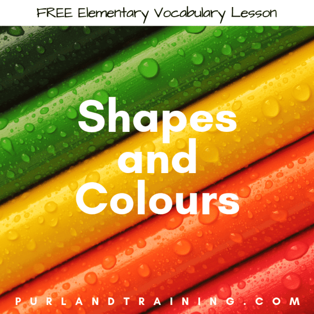 Free Shapes and Colours Vocabulary Lesson