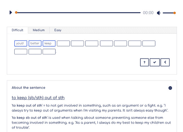 An interactive activity on MicroEnglish.net