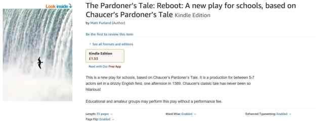 Buy The Pardoner's Tale: Reboot on Amazon.co.uk