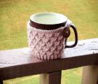 Diagonal Knot Mug Cozy