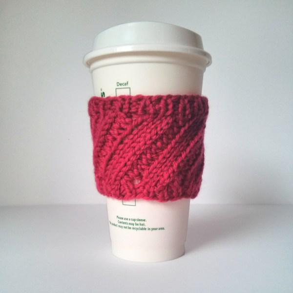 diagonal rib coffee cup sleeve