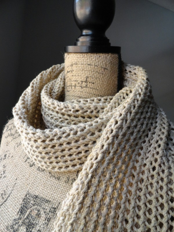 Rustic Ribbed Mesh Scarf 2 - Purl Avenue