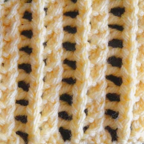 Singular Lacy Rib Stitch
