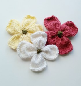 Knitted Dogwood Blossoms