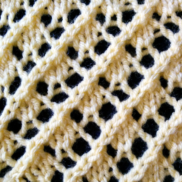 fancy diagonal lace
