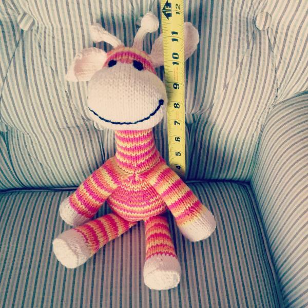 Sock Giraffe sitting