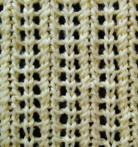 Vertical Feathered Lace Stitch