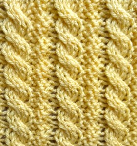 Reversible Little Ropes Stitch