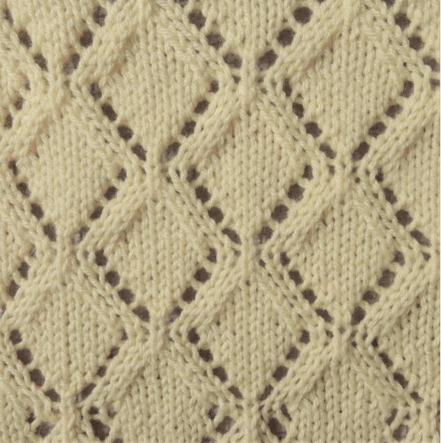 vertical diamonds knit stitch