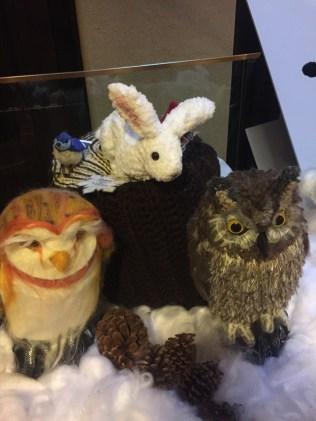 owls & bunny & bird