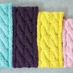 Handmade cable knit ear warmer, designed by Liz @PurlsAndPixels