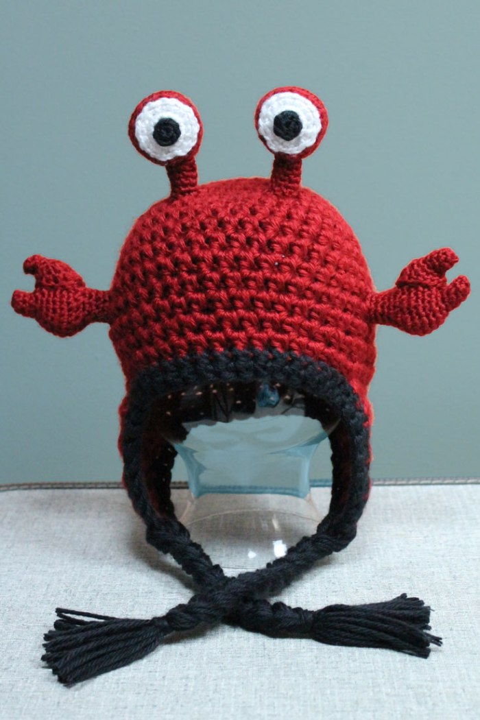 Hermit Crab Hat and DIY Crochet Pattern from Liz at PurlsAndPixels