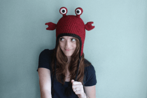 Hermit crab hat, crochet animal costume hat by PurlsAndPixels