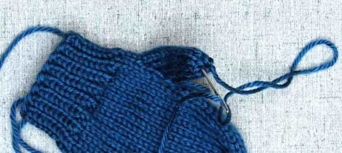 Binding Off Mittens, Finishing tips for handknit mittens