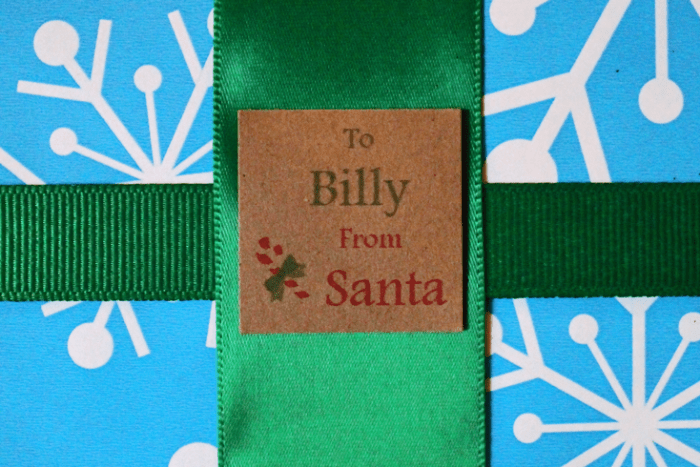 "Free printable ""from Santa"" gift tags from PurlsAndPixels"