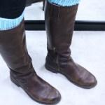Leg warmers as boot cuffs, knitting pattern, designed by Liz Chandler @PurlsAndPixels