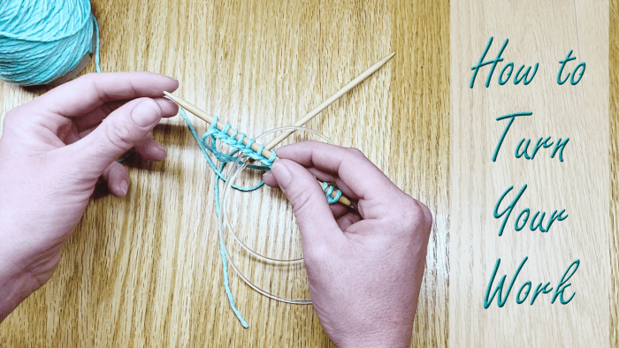 Learn how to turn your work in this beginner knitting lesson from Liz @ PurlsAndPixels.