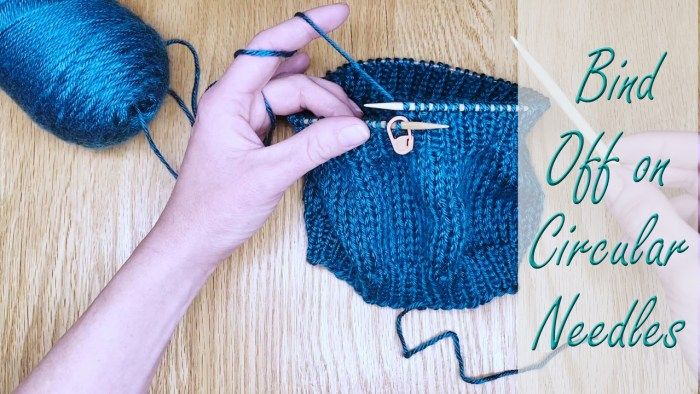 Bind off in the round on circular needles - a knitting lesson with Liz Chandler @PurlsAndPixels.