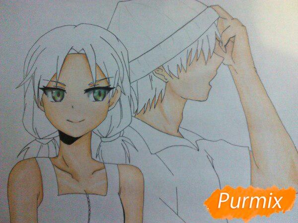 kak-narisovat-anime-devushku-i-parnya-karandashmi-pojetapno-11 Как нарисовать пару из Вокалоидов карандашом поэтапно