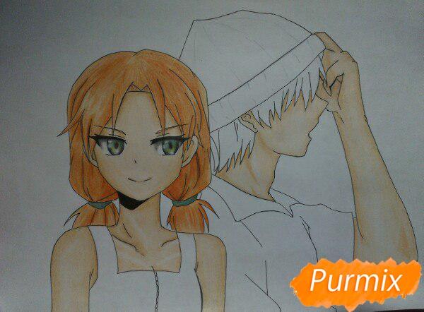 kak-narisovat-anime-devushku-i-parnya-karandashmi-pojetapno-12 Как нарисовать пару из Вокалоидов карандашом поэтапно