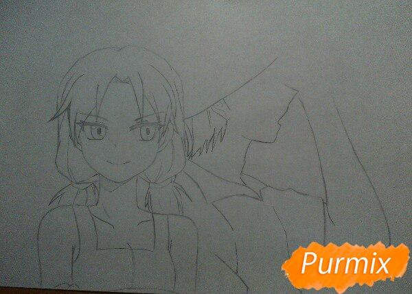 kak-narisovat-anime-devushku-i-parnya-karandashmi-pojetapno-6 Как нарисовать пару из Вокалоидов карандашом поэтапно