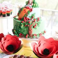 5. cumpleaños de María Lucila celebrando con el Mago de Oz