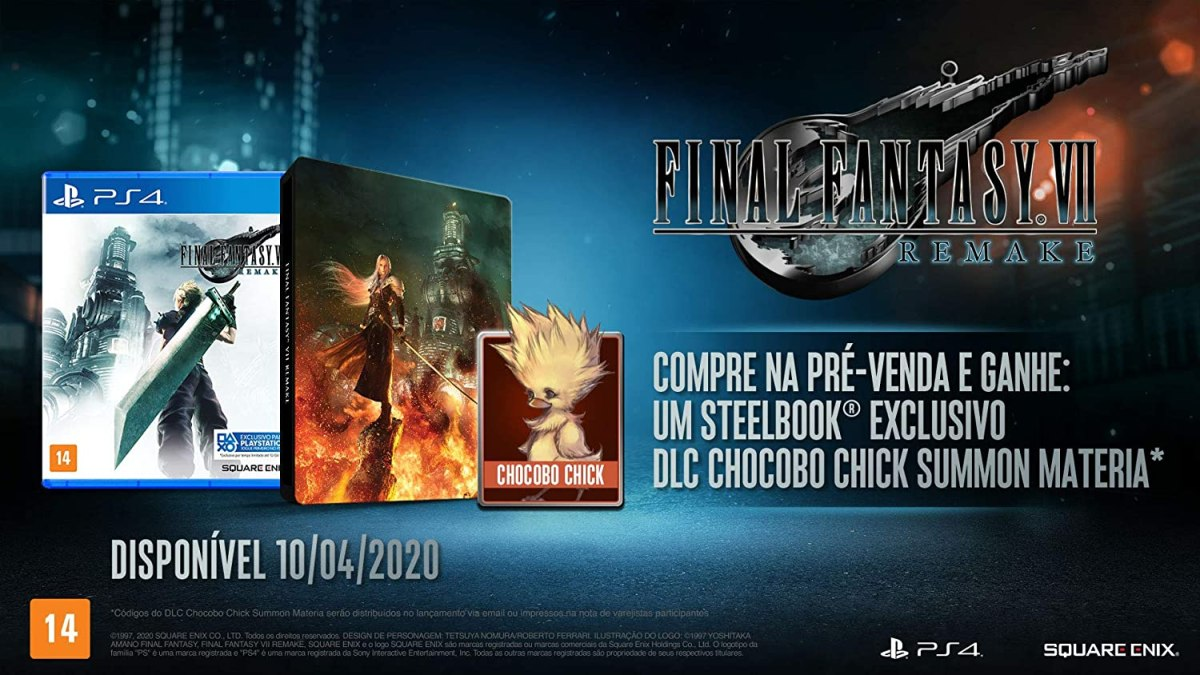 Final Fantasy VII Remake Steelbook