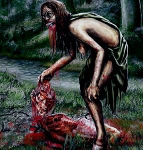 Una terrorífica representación de la leyenda de la Patasola