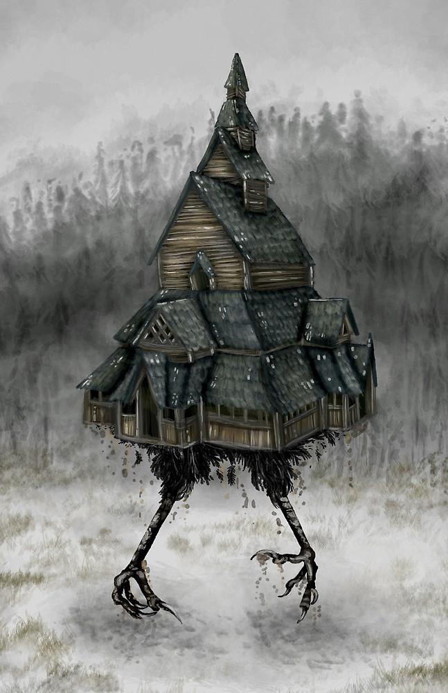 La historia de Baba Yaga y su casa con patas de gallina