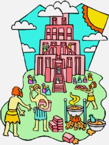 Historia de la Torre de Babel para niños
