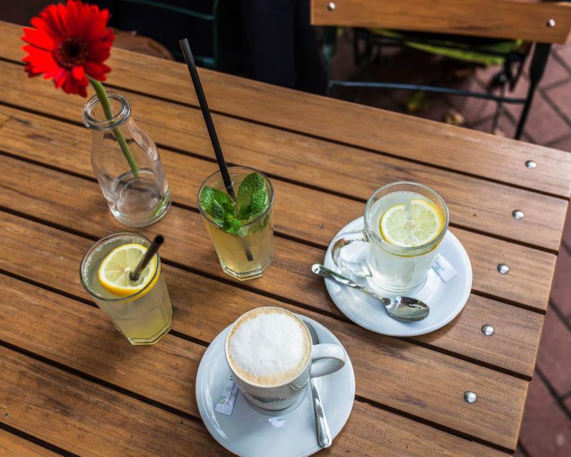 Lemonade, Hot Lemon and Café au lait in Hamburg at Von der Motte
