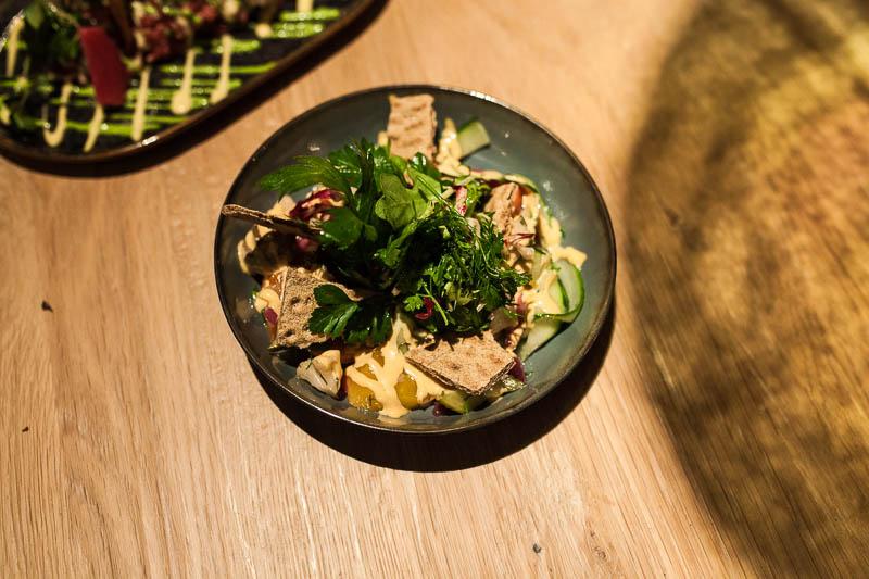 Pickled summer vegetables salad at the Hygge. Restaurant Guide Hamburg