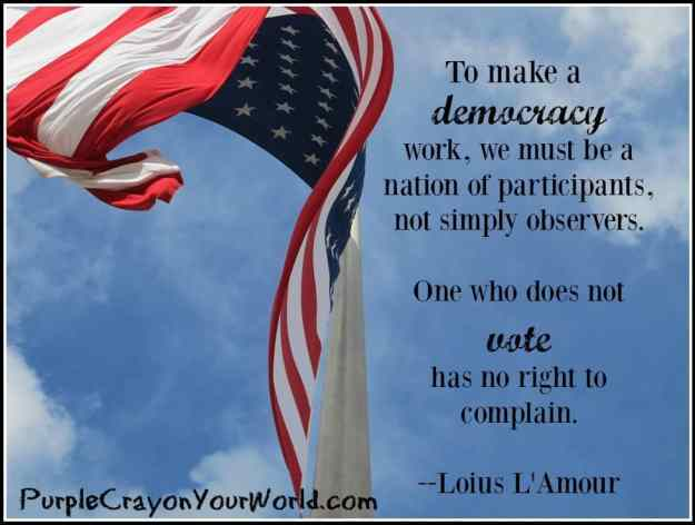One who does not vote has no right to complain
