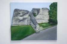 "Finished ""Pontefract Castle"" 3D Acrylic Painting by Purple Faye"
