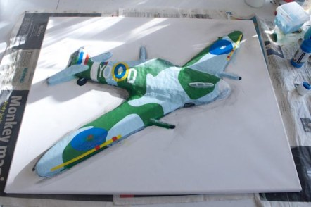 "More details painted on the ""Spitfire MK VB"" 3D Acrylic Painting"