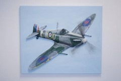 "Finished ""Spitfire MK VB"" 3D Acrylic Painting by Purple Faye"