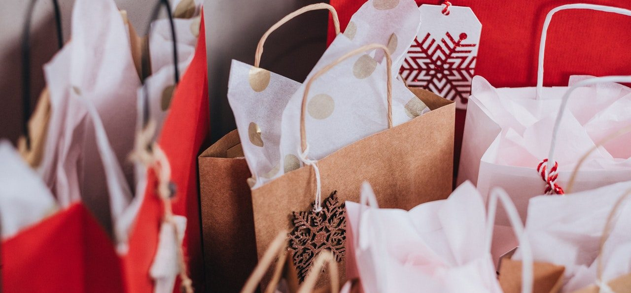 Christmas bags of gifts