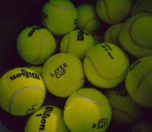 Tennis balls for massage